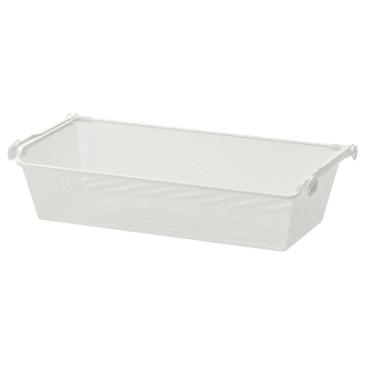 KOMPLEMENT Mesh basket with pull-out rail, white, 75x35 cm