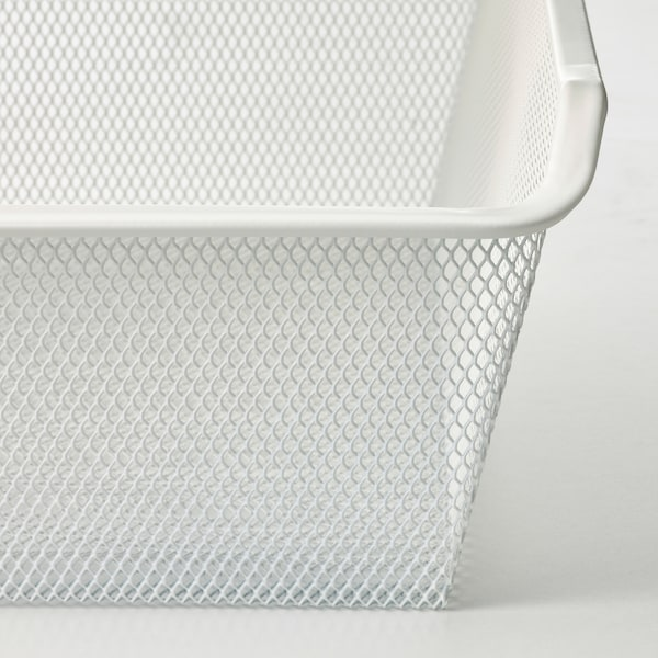 KOMPLEMENT Mesh basket with pull-out rail, white, 75x58 cm