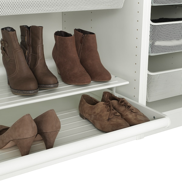 KOMPLEMENT Pull-out shoe shelf, white, 75x58 cm