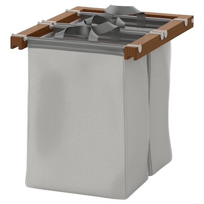 KOMPLEMENT Pull-out storage bag, brown stained ash effect, 50x58x48 cm