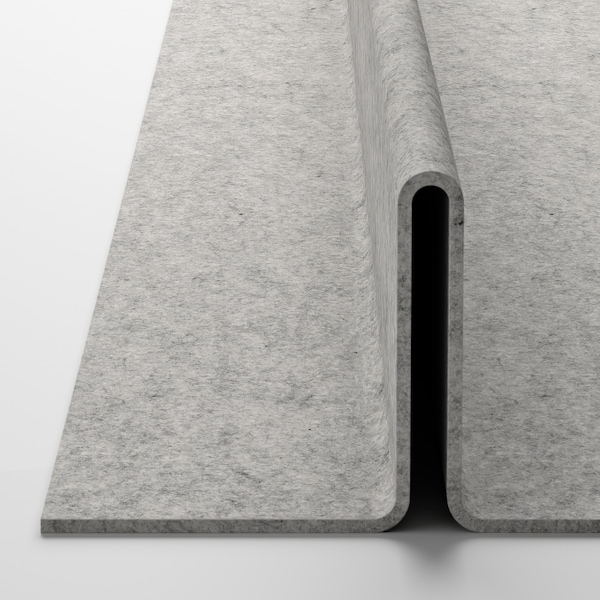 KOMPLEMENT Shoe insert for pull-out tray, light grey, 100x35 cm