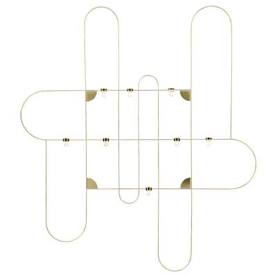 KORSMON Memo board with clips, gold-colour