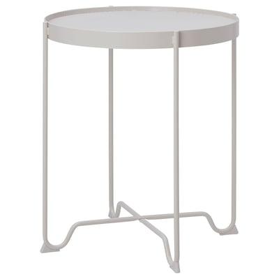 KROKHOLMEN طاولة جانبية، خارجية, بيج, 50 سم