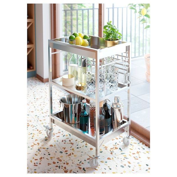 KUNGSFORS kitchen trolley stainless steel 19 kg 60 cm 40 cm 90 cm