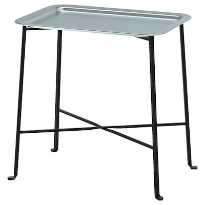 KUNGSHATT Tray table, in/outdoor, dark grey/grey, 56x36 cm