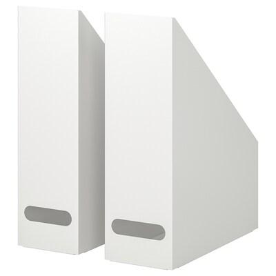 KVISSLE حافظة مجلات، طقم من 2., أبيض