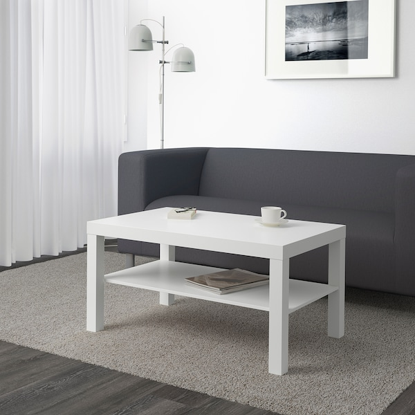 LACK طاولة قهوة, أبيض, 90x55 سم