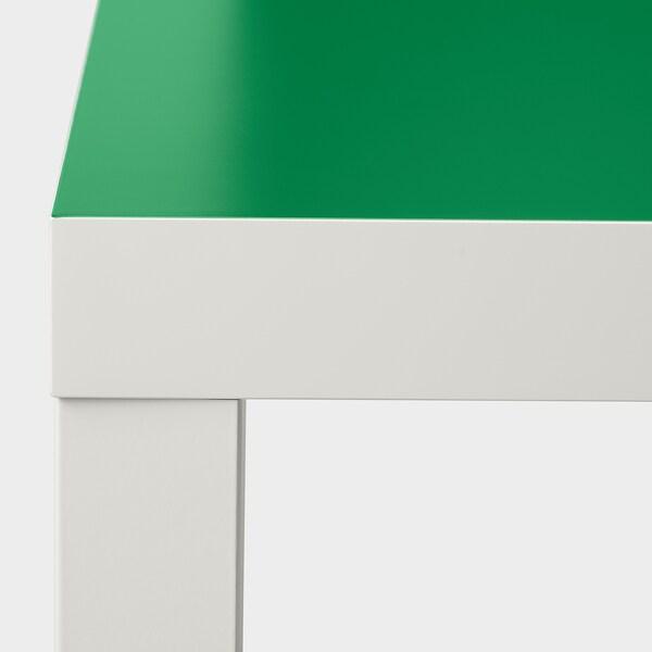 LACK طاولة جانبية, أبيض/أخضر, 55x55 سم