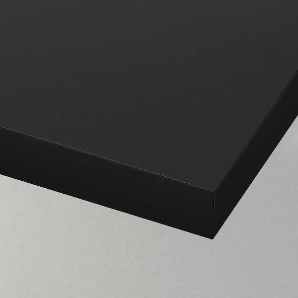 LACK رف حائط, أسود-بني, 110x26 سم