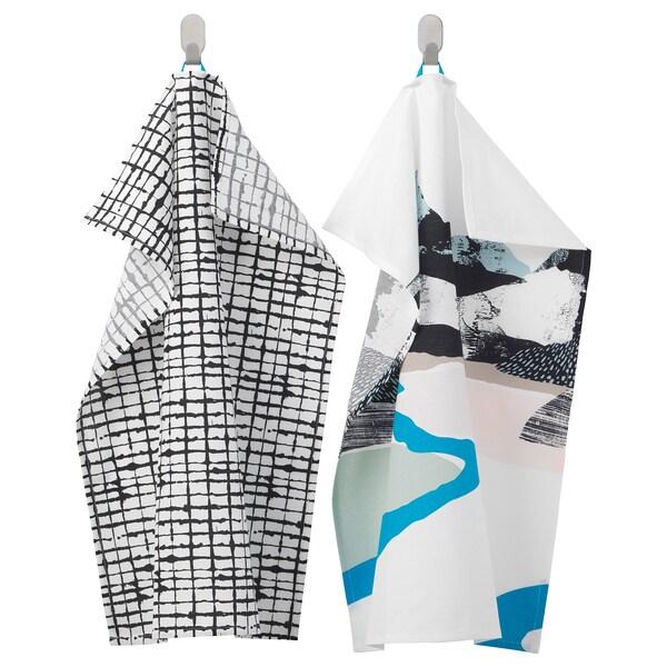LACKTICKA Tea towel, landscape/patterned, 50x70 cm