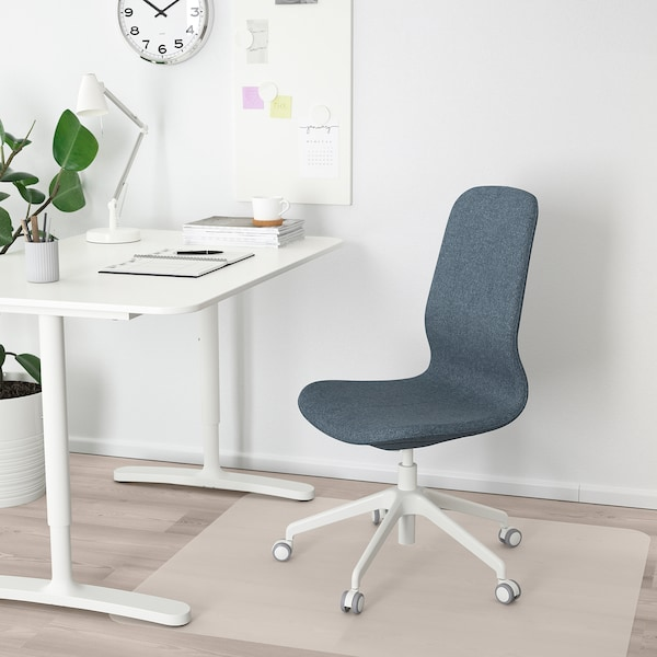 LÅNGFJÄLL كرسي مكتب, Gunnared أزرق/أبيض