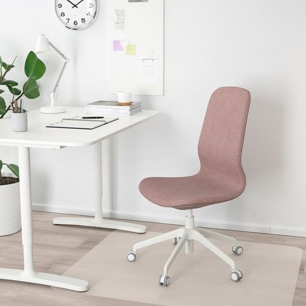 LÅNGFJÄLL كرسي مكتب, Gunnared بني فاتح-وردي/أبيض