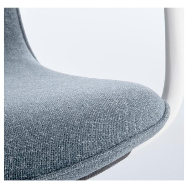 LÅNGFJÄLL office chair with armrests Gunnared blue/white 110 kg 68 cm 68 cm 104 cm 53 cm 41 cm 43 cm 53 cm
