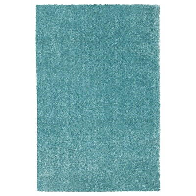LANGSTED Rug, low pile, turquoise, 170x240 cm
