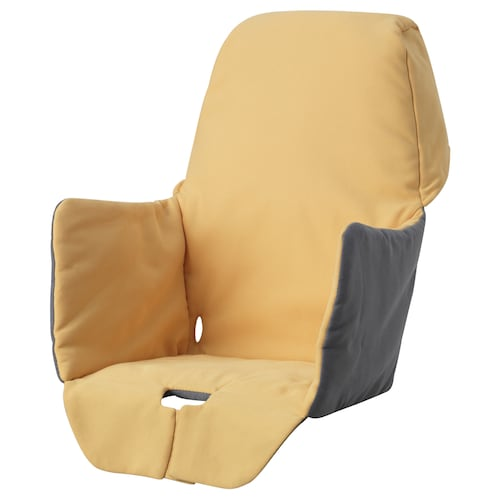 LANGUR padded seat cover for highchair yellow 22 cm 21 cm 40 cm