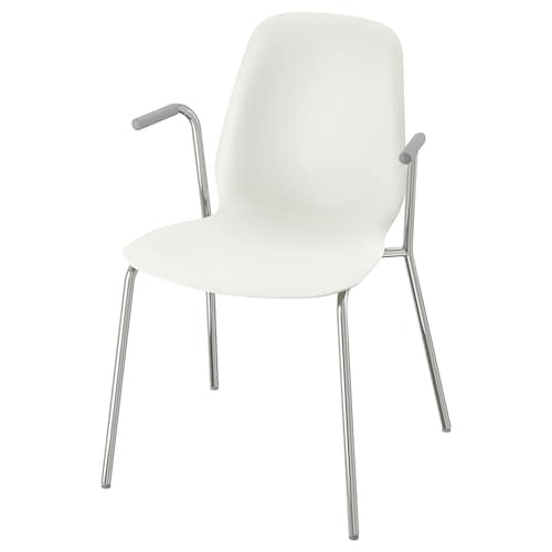 LEIFARNE chair with armrests white/Dietmar chrome-plated 110 kg 53 cm 50 cm 87 cm 45 cm 36 cm 46 cm