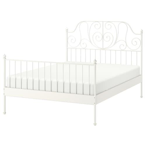 LEIRVIK bed frame white/Luröy 209 cm 148 cm 98 cm 146 cm 200 cm 140 cm