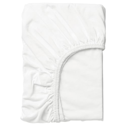 LEN fitted sheet white 160 cm 70 cm