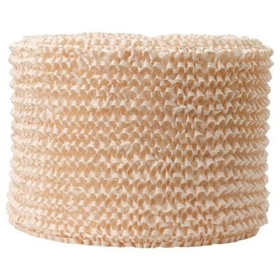 LERGRYN Lamp shade, knitted beige/handmade, 42 cm
