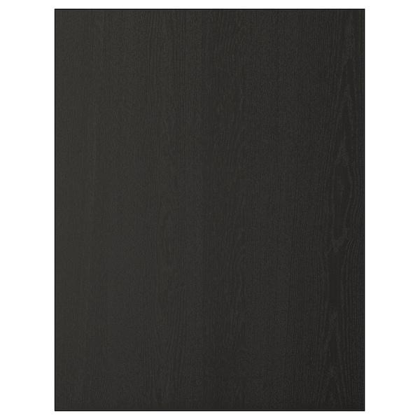 LERHYTTAN cover panel black stained 61.7 cm 80.0 cm 1.3 cm
