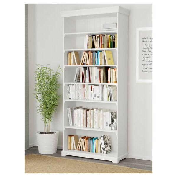 LIATORP مكتبة, أبيض, 96x214 سم