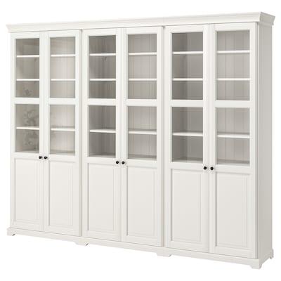 LIATORP تشكيلة تخزين مع أبواب, أبيض, 276x214 سم