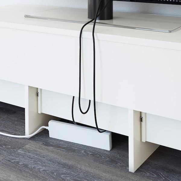 LIATORP طاولة تلفزيون, أبيض, 145x49x45 سم