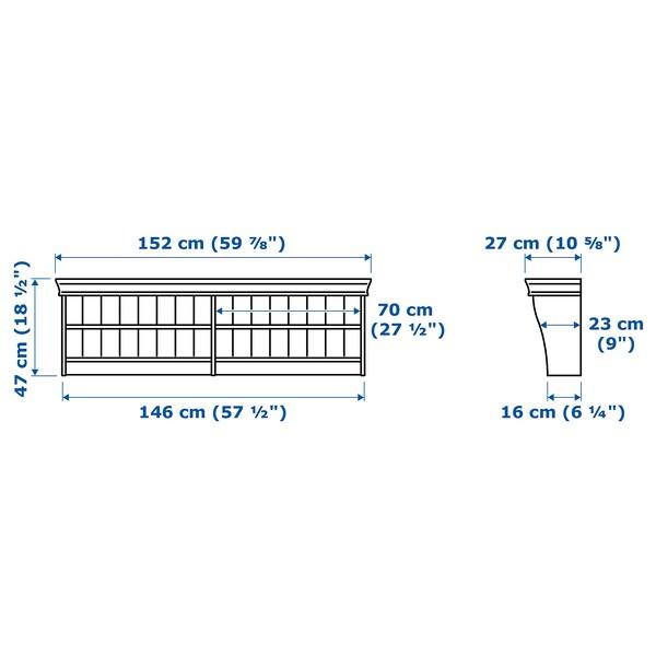 LIATORP رف حائط/وصل, أبيض, 152x47 سم