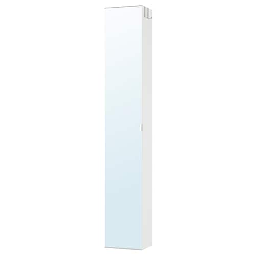 LILLÅNGEN high cabinet with mirror door white 30 cm 21 cm 179 cm