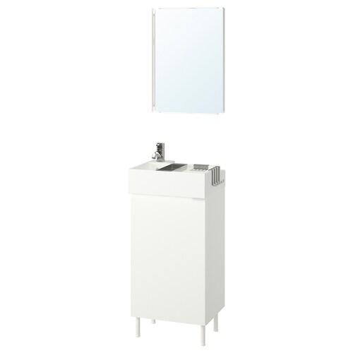 LILLÅNGEN / LILLÅNGEN bathroom furniture, set of 5 white/Pilkån tap 41 cm 40 cm 41 cm 89 cm