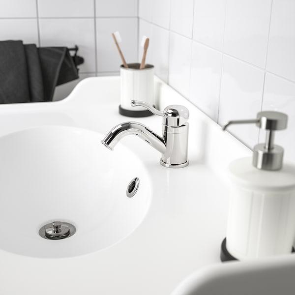 LILLSVAN خلاط ماء حوض غسيل مع صمام, طلاء كروم