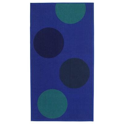 LJÖRSLEV سجاد، وبر قصير, أزرق/ أخضر, 80x150 سم