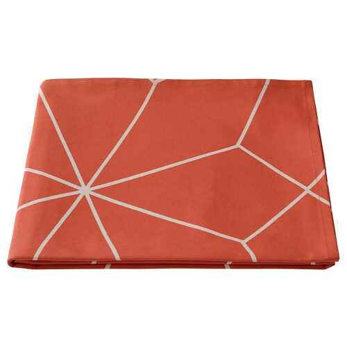 LJUV tablecloth red/printed 240 cm 145 cm