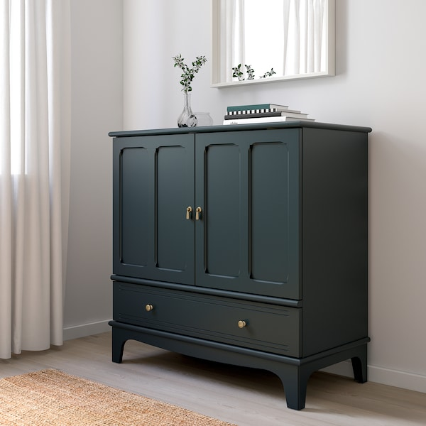LOMMARP خزانة, أزرق-أخضر غامق, 102x101 سم