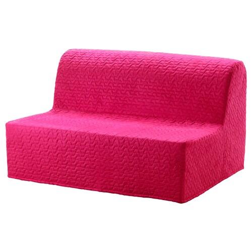 LYCKSELE HÅVET two-seat sofa-bed Vallarum cerise 142 cm 100 cm 87 cm 60 cm 39 cm 140 cm 188 cm 188 cm 140 cm 10 cm