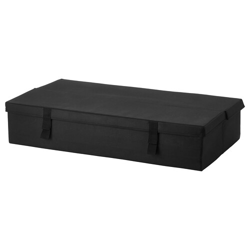 LYCKSELE storage box 2-seat sofa-bed black 92 cm 55 cm 21.0 cm
