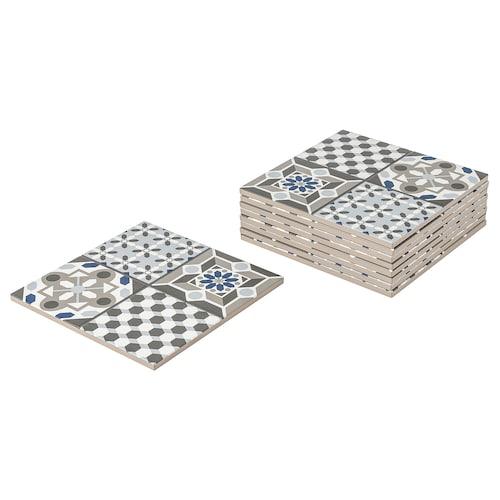 MÄLLSTEN top part, outdoor floor decking blue/white 0.81 m² 30 cm 30 cm 12 mm 0.09 m² 9 pieces
