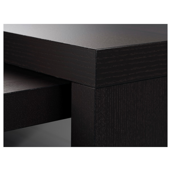 MALM Desk with pull-out panel, black-brown, 151x65 cm
