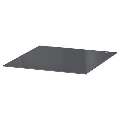 MALM glass top transparent grey 40 cm 48 cm