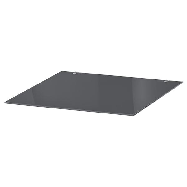MALM Glass top, transparent grey, 40x48 cm