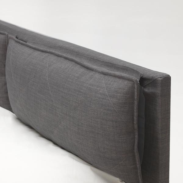 MALM Headboard cover with 2 pillows, Skiftebo dark grey, 180 cm