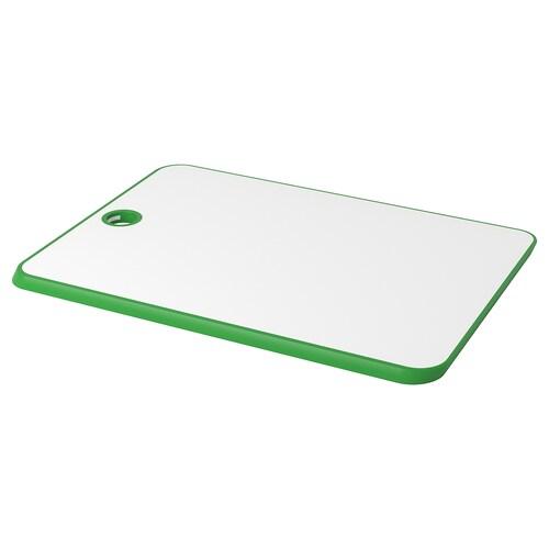 MATLUST chopping board green/white 34 cm 24 cm 10 mm