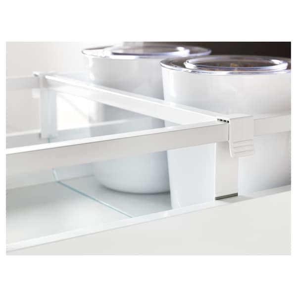 MAXIMERA مقسّم درج أوسط, أبيض/شفاف, 40 سم
