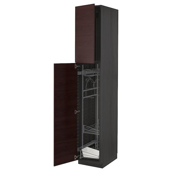 METOD خزانة مرتفعة مع أرفف مواد نظافة