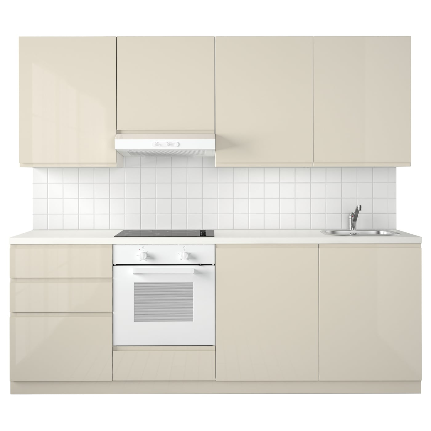 Metod Kitchen White Maximera Voxtorp High Gloss Light Beige Ikea