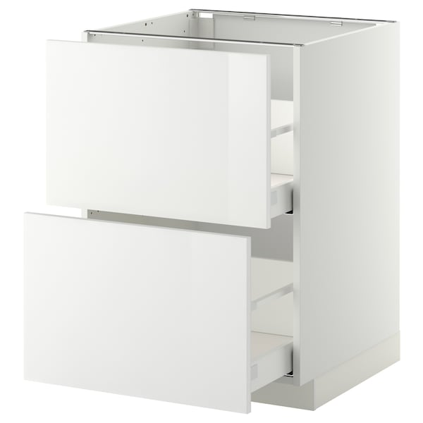 Metod Maximera Base Cb 2 Fronts 2 High Drawers White Ringhult