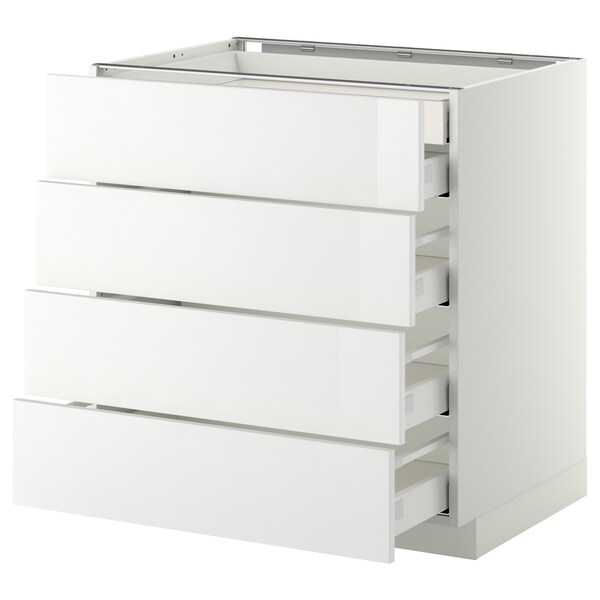 METOD / MAXIMERA base cb 4 frnts/2 low/3 md drwrs white/Ringhult white 80.0 cm 61.8 cm 88.0 cm 60.0 cm 80.0 cm