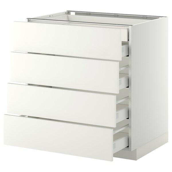METOD / MAXIMERA base cb 4 frnts/2 low/3 md drwrs white/Häggeby white 80.0 cm 61.6 cm 88.0 cm 60.0 cm 80.0 cm