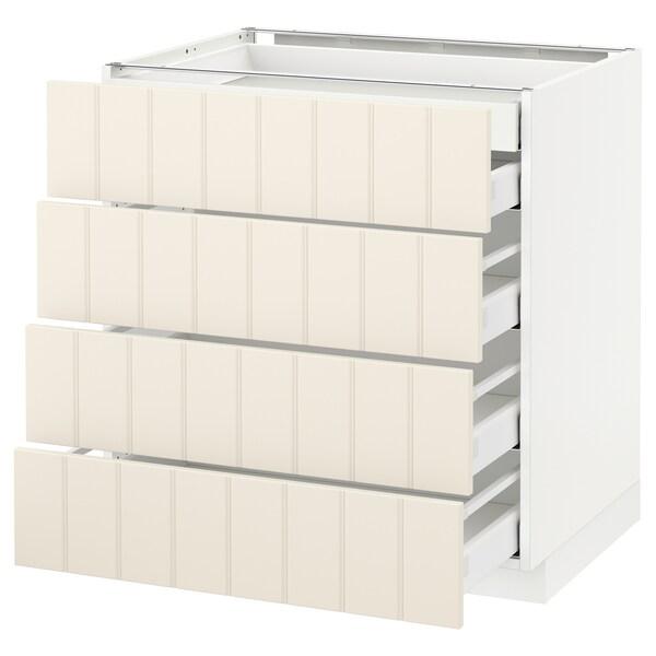 METOD / MAXIMERA base cb 4 frnts/2 low/3 md drwrs white/Hittarp off-white 80.0 cm 61.8 cm 88.0 cm 60.0 cm 80.0 cm