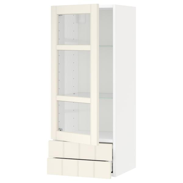 METOD / MAXIMERA خزانة حائط+ب. زجاجي/2 درج